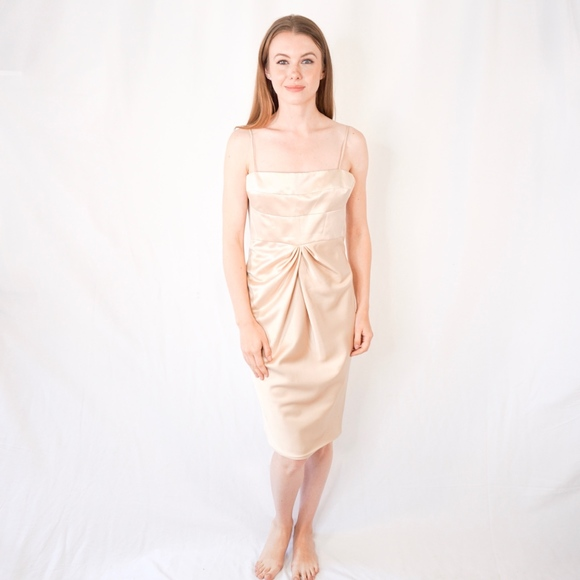 6196435ea70a9 Douglas Hannant Dresses | Crepe Satin Slip Dress Nwt 0423 | Poshmark